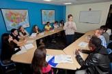Alumnos estudiando en Boston