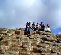 Estudiantes de excursiones en Derry
