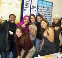 Grupo de estudiantes en Aberdeen