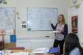 Profesora dando clases en Bath